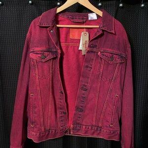 Levi's Burgundy Jeans Jacket size Medium